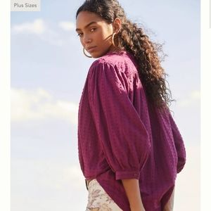 Anthropologie pilcro tavi button down blouse